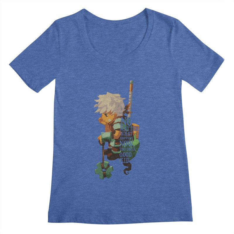 Bastion The Kid Women's Scoopneck by tulleceria