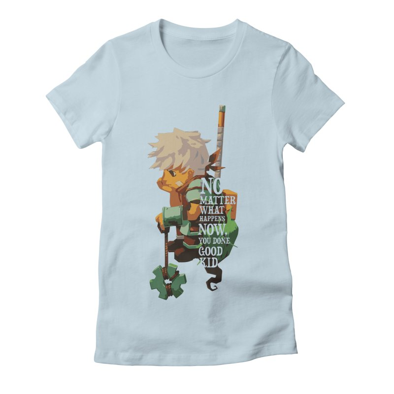Bastion The Kid Women's Fitted T-Shirt by tulleceria