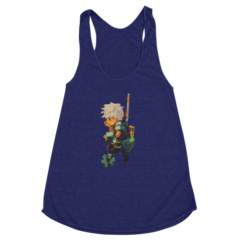 Bastion The Kid Women's Racerback Triblend Tank by tulleceria