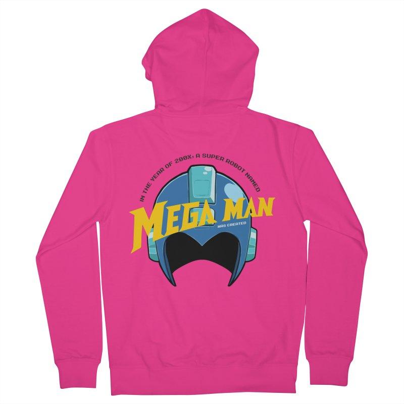 Mega Man Men's Zip-Up Hoody by tulleceria