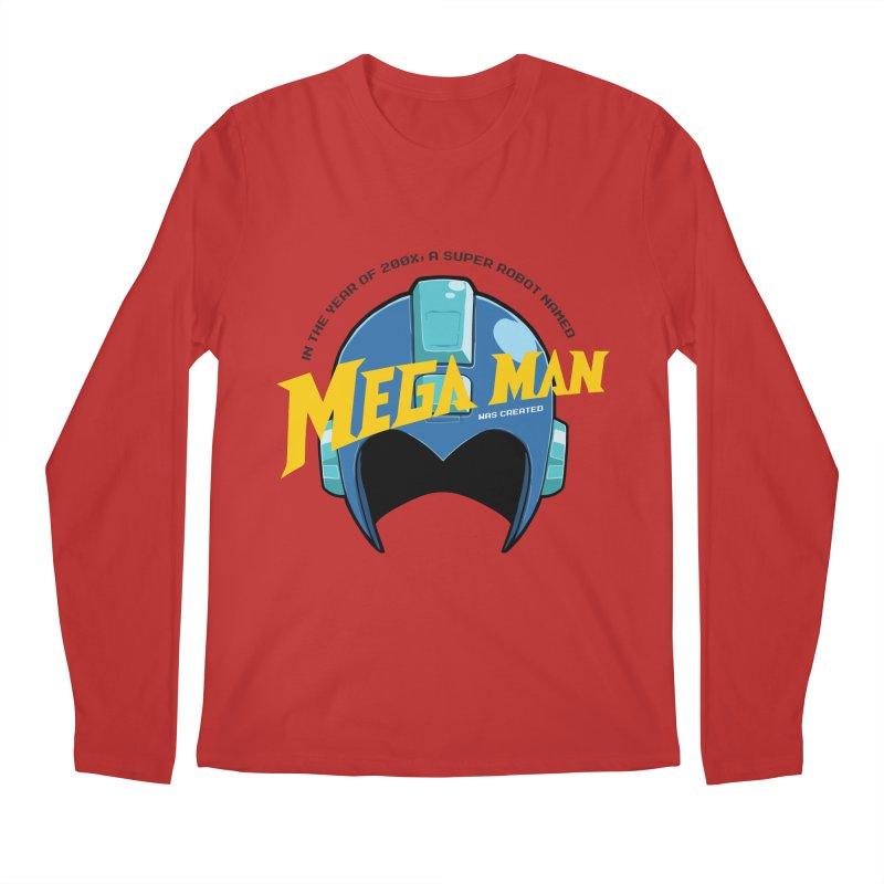 Mega Man Men's Longsleeve T-Shirt by tulleceria