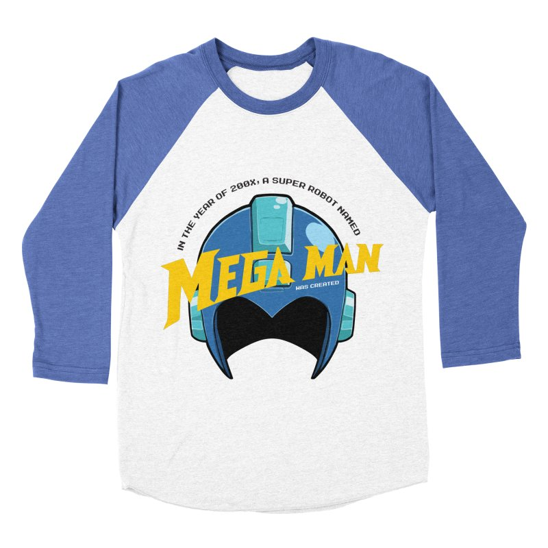 Mega Man Women's Baseball Triblend T-Shirt by tulleceria
