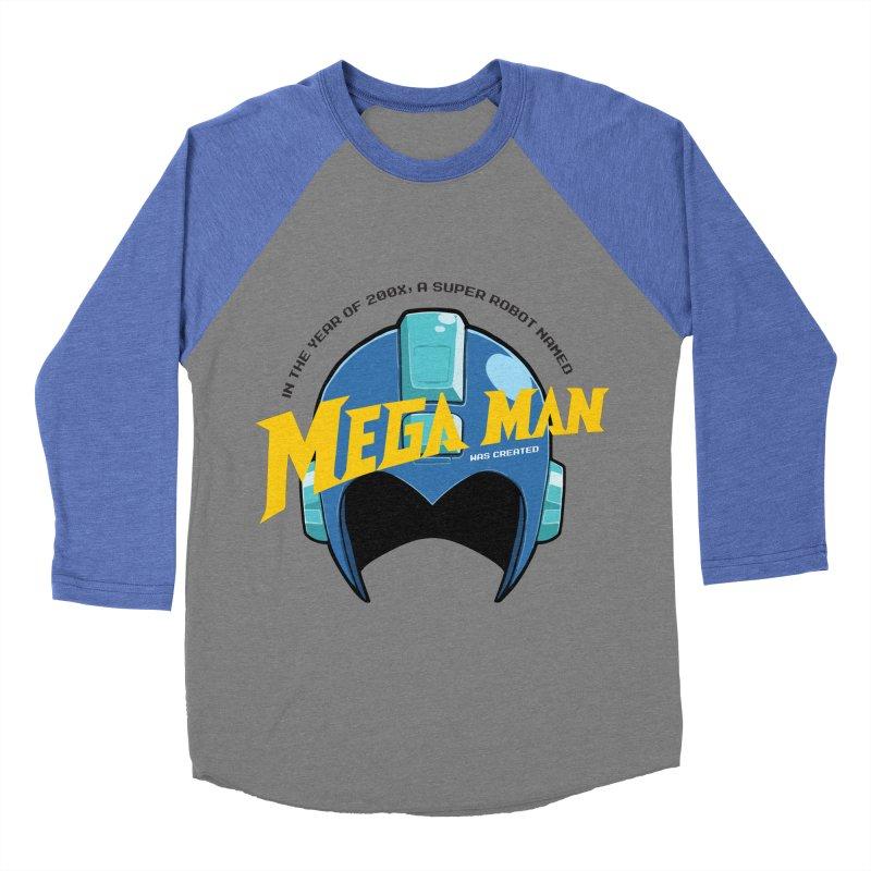 Mega Man Men's Baseball Triblend T-Shirt by tulleceria