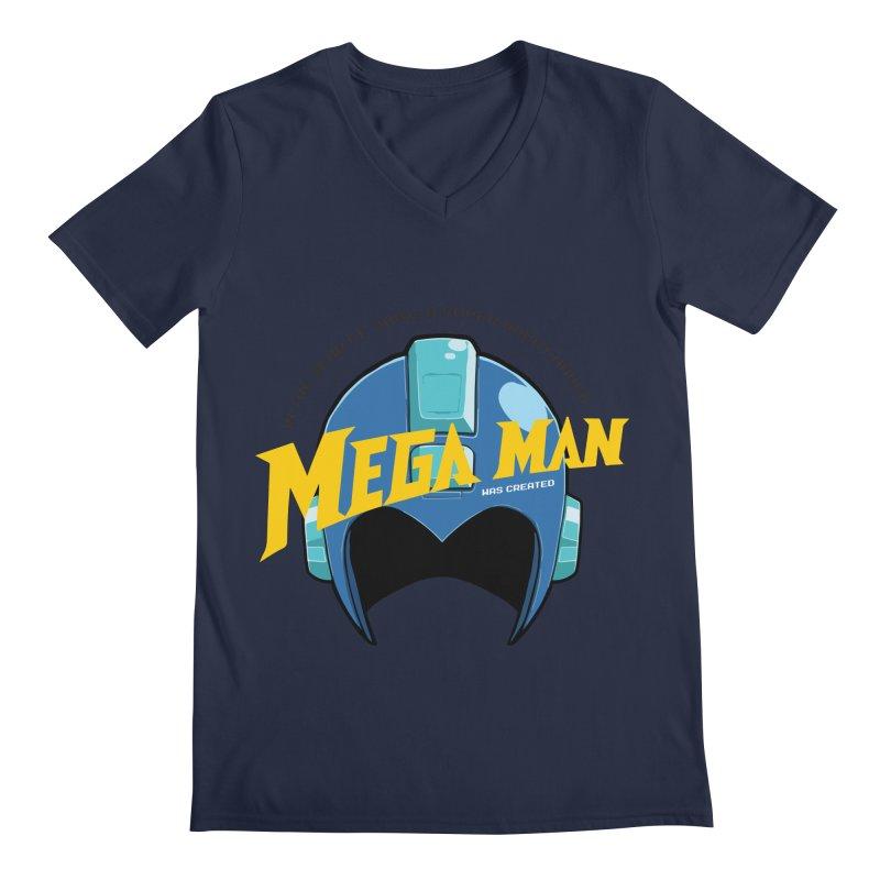 Mega Man Men's V-Neck by tulleceria