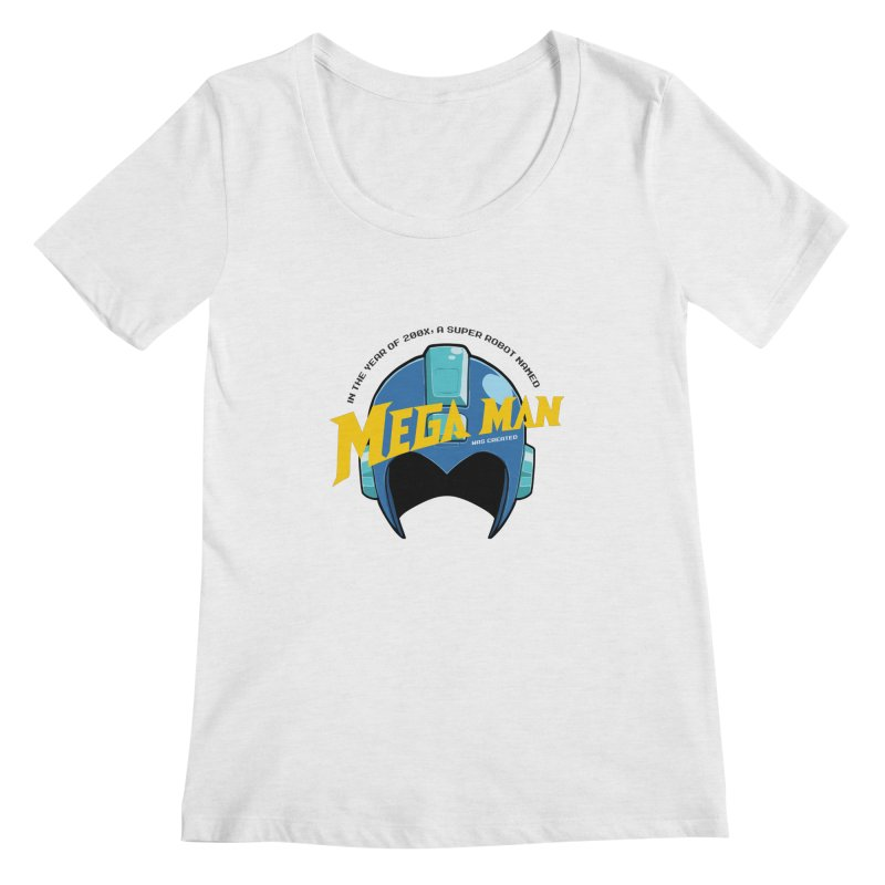 Mega Man Women's Scoopneck by tulleceria