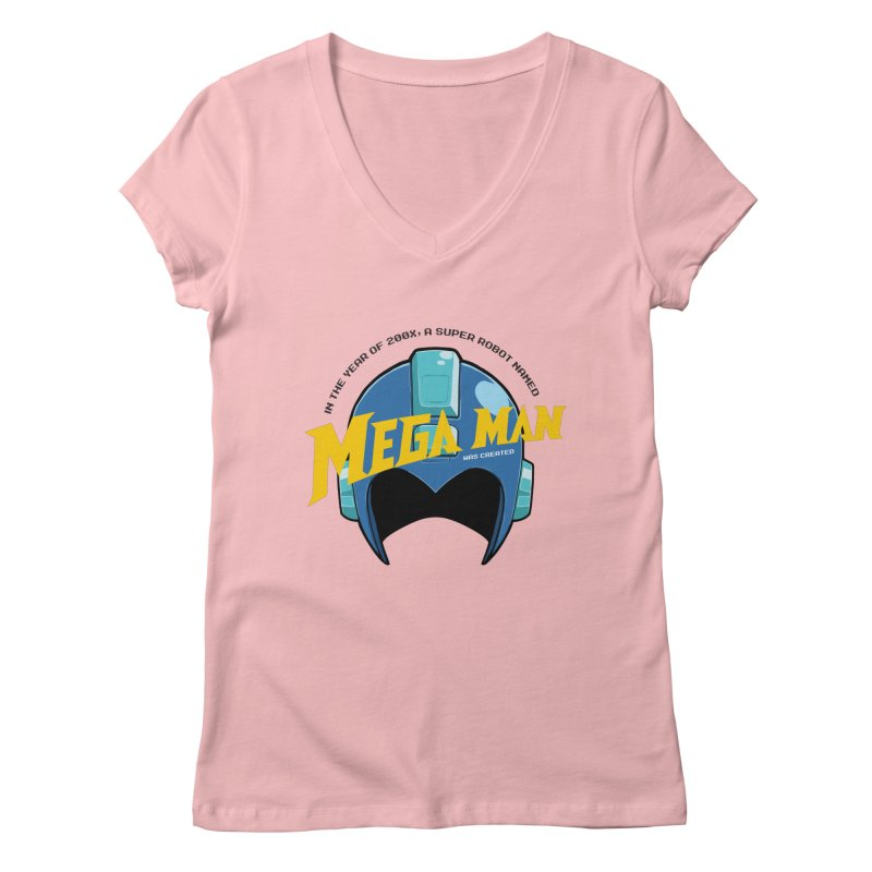 Mega Man Women's V-Neck by tulleceria