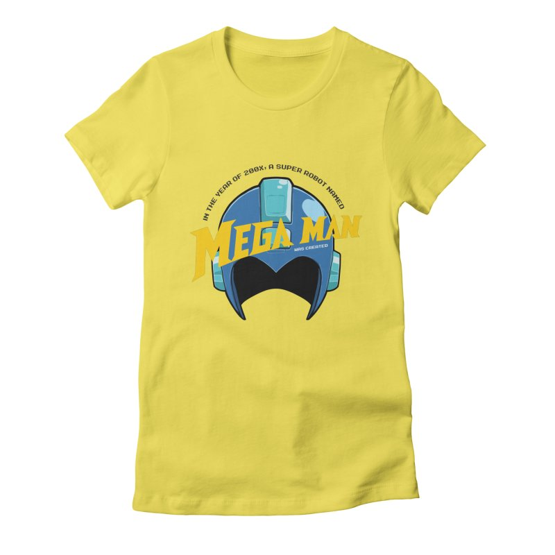 Mega Man Women's Fitted T-Shirt by tulleceria