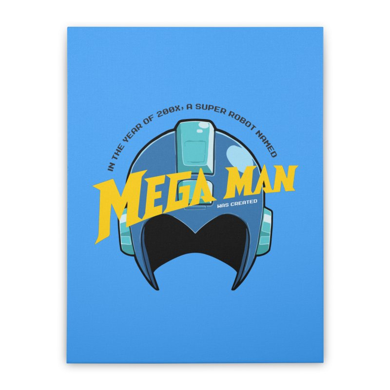 Mega Man Home Stretched Canvas by tulleceria