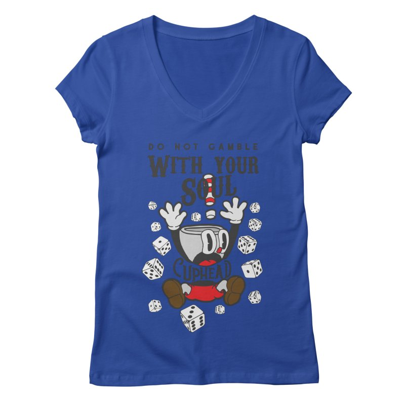 Cuphead Gamble Women's V-Neck by tulleceria