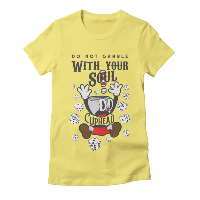 Cuphead Gamble Women's Fitted T-Shirt by tulleceria