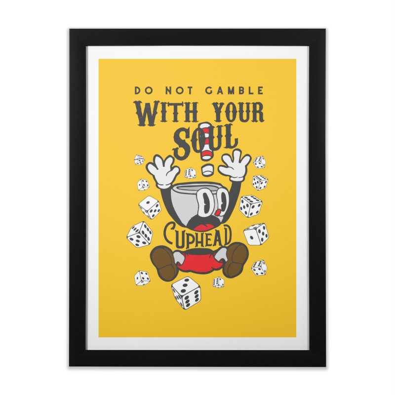 Cuphead Gamble Home Framed Fine Art Print by tulleceria