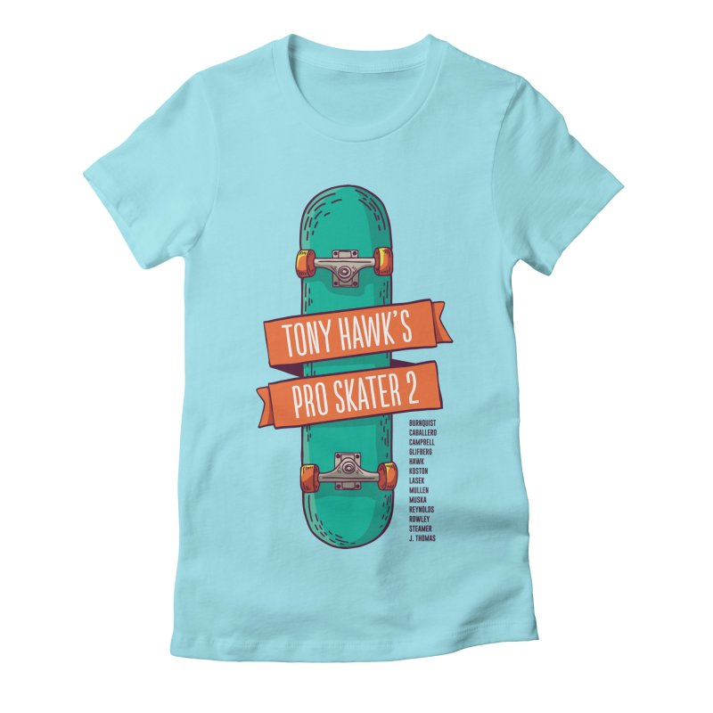 Tony Hawk's Pro Skater 2 Women's Fitted T-Shirt by tulleceria