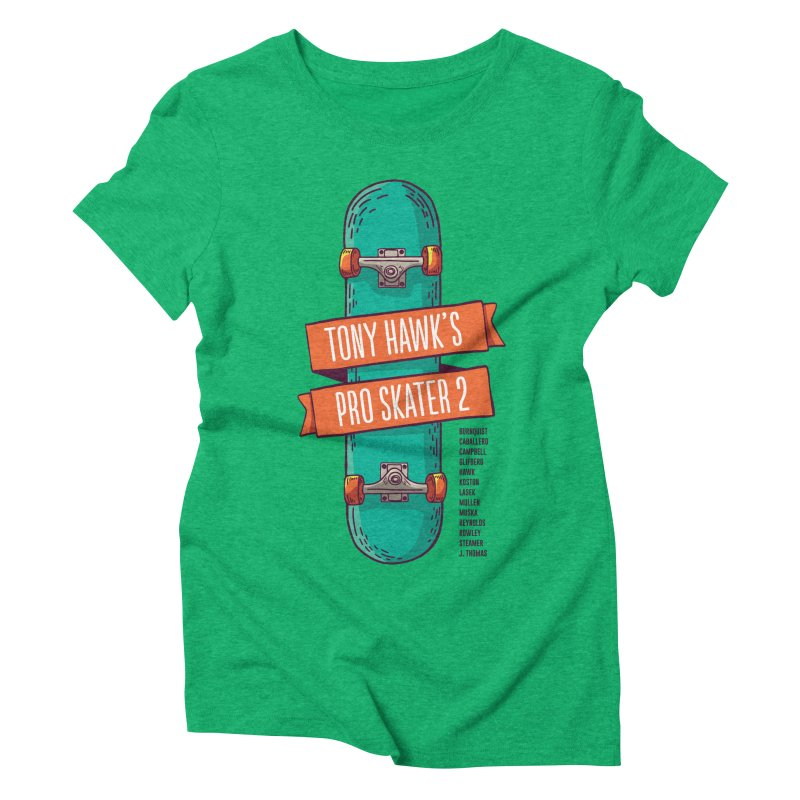Tony Hawk's Pro Skater 2 Women's Triblend T-Shirt by tulleceria
