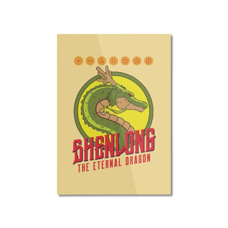 Dragon Ball Z Shenlong Home Mounted Aluminum Print by tulleceria