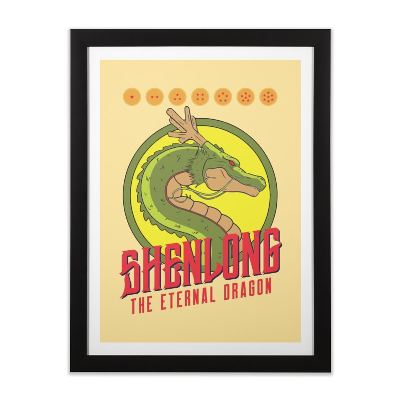 Dragon Ball Z Shenlong Home Framed Fine Art Print by tulleceria