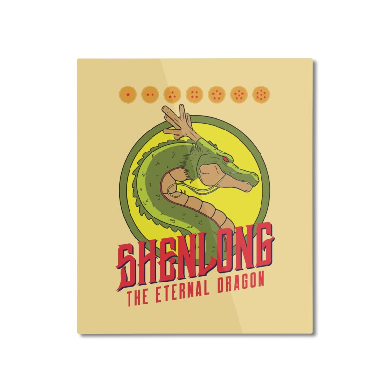 Dragon Ball Z Shenlong Home Mounted Aluminum Print by tulleceria