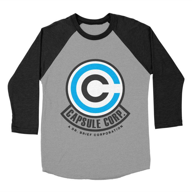 Dragon Ball Z Capsule Corp Women's Baseball Triblend T-Shirt by tulleceria