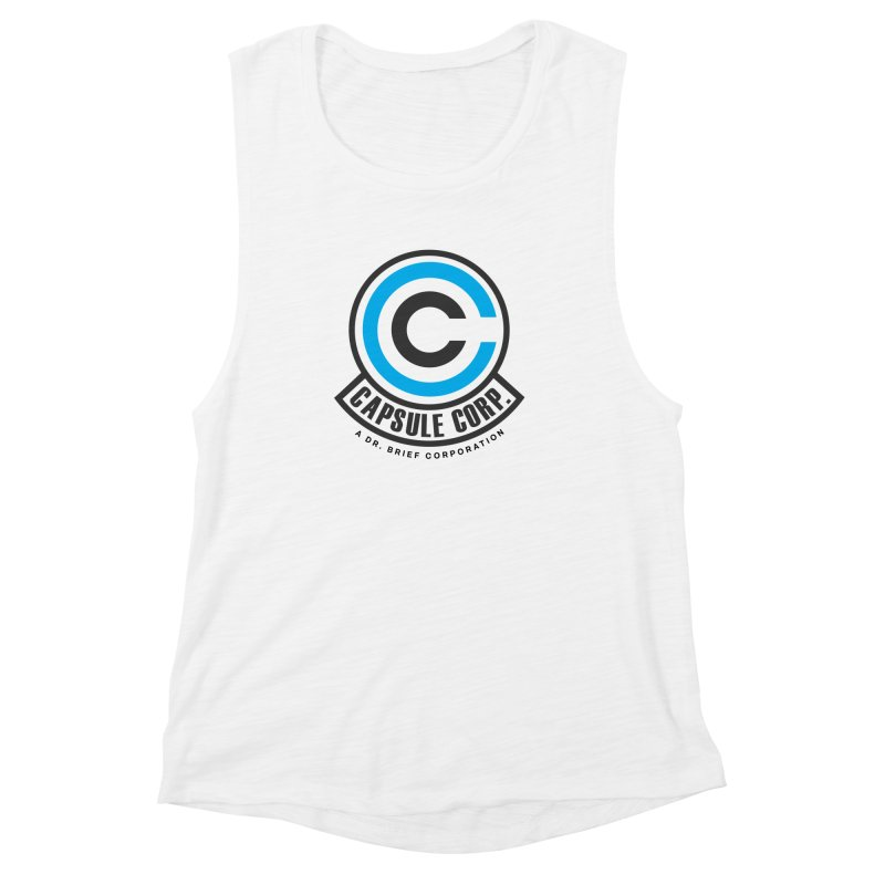 Dragon Ball Z Capsule Corp Women's Muscle Tank by tulleceria