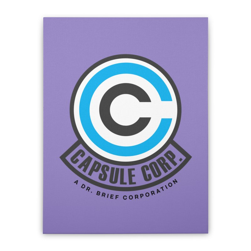 Dragon Ball Z Capsule Corp Home Stretched Canvas by tulleceria