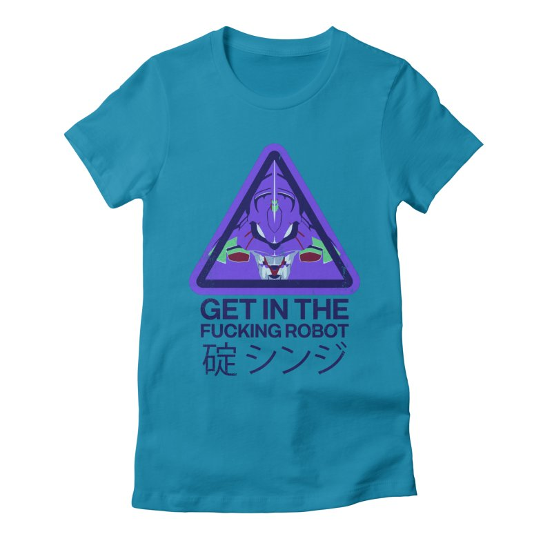 Evangelion Women's Fitted T-Shirt by tulleceria