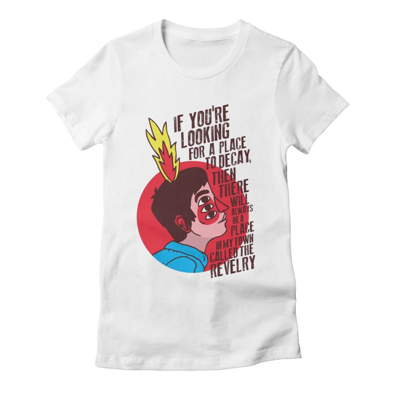 Neck Deep Women's Fitted T-Shirt by tulleceria