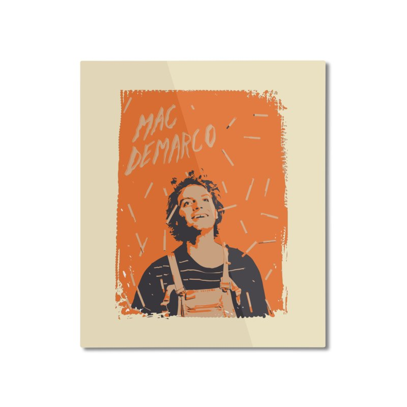 Mac Demarco Home Mounted Aluminum Print by tulleceria