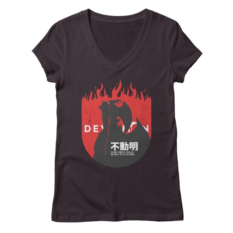 Devilman crybaby Women's V-Neck by tulleceria