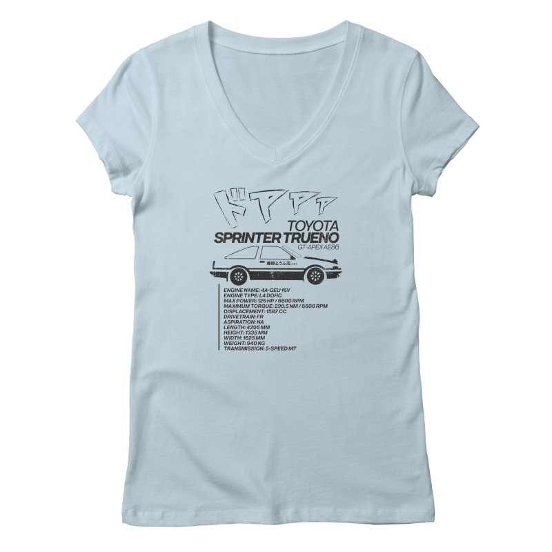 Initial D Women's V-Neck by tulleceria