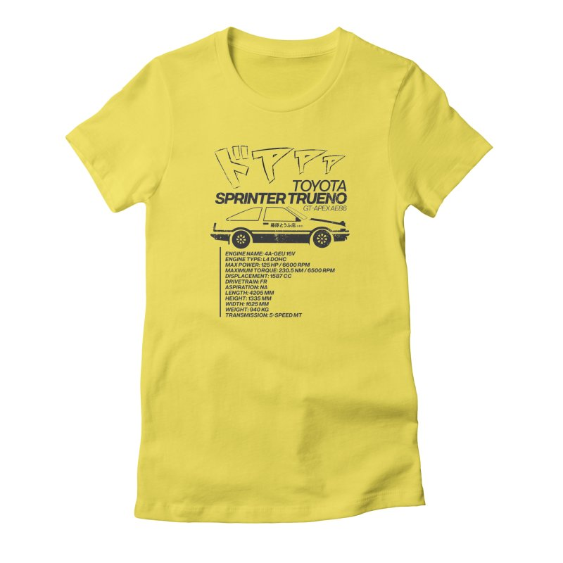 Initial D Women's T-Shirt by tulleceria