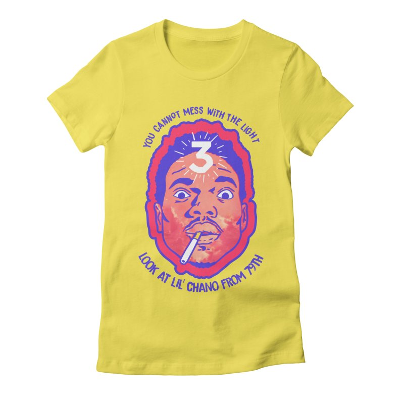 Chance the Rapper Women's French Terry Zip-Up Hoody by tulleceria