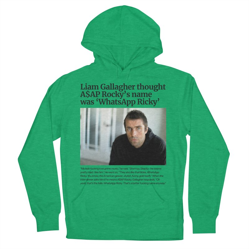 Liam Gallagher Women's French Terry Pullover Hoody by tulleceria
