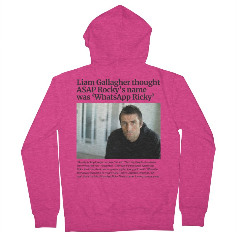 Liam Gallagher Women's French Terry Zip-Up Hoody by tulleceria