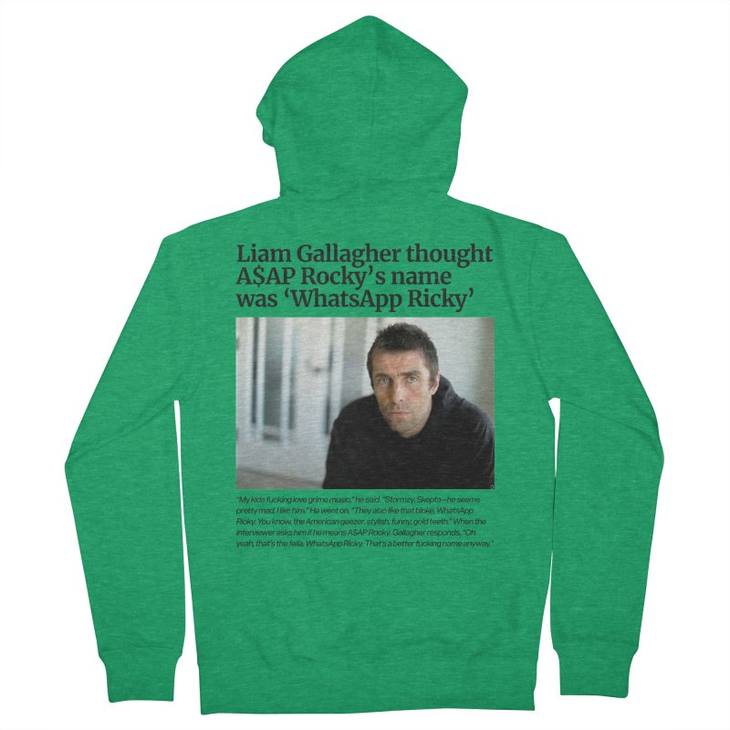 Liam Gallagher Men's French Terry Zip-Up Hoody by tulleceria