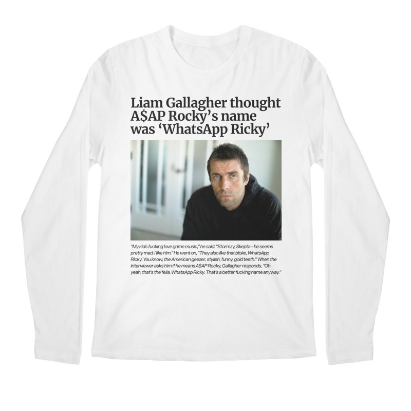 Liam Gallagher Men's Longsleeve T-Shirt by tulleceria