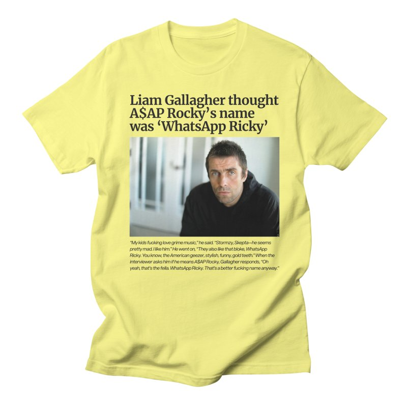 Liam Gallagher Men's Regular T-Shirt by tulleceria