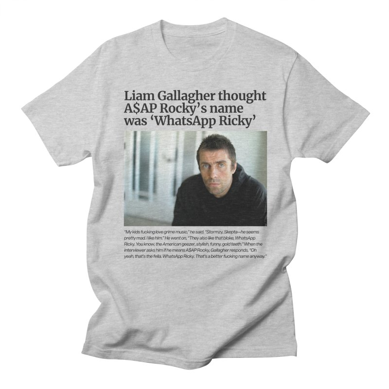 Liam Gallagher Men's T-Shirt by tulleceria