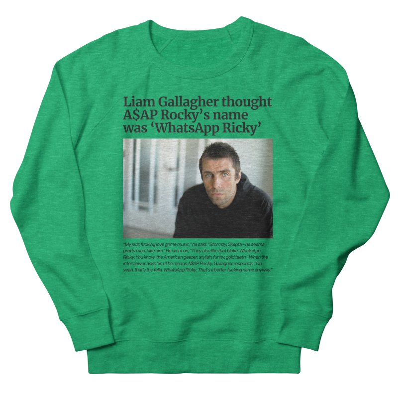 Liam Gallagher Women's French Terry Sweatshirt by tulleceria
