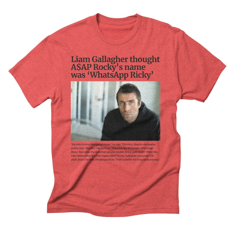 Liam Gallagher Men's Triblend T-Shirt by tulleceria