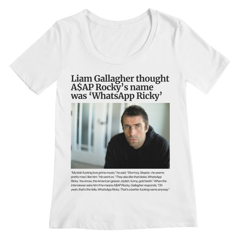 Liam Gallagher Women's Regular Scoop Neck by tulleceria