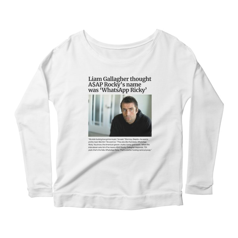 Liam Gallagher Women's Scoop Neck Longsleeve T-Shirt by tulleceria