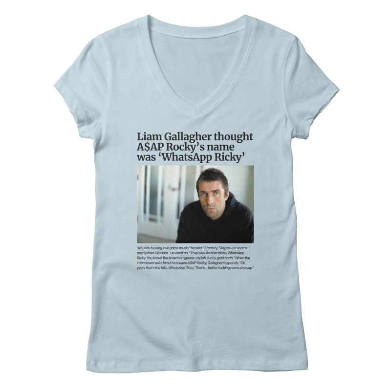 Liam Gallagher Women's V-Neck by tulleceria