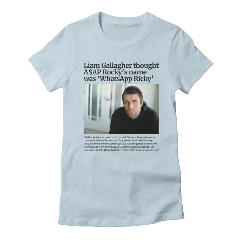 Liam Gallagher Women's Fitted T-Shirt by tulleceria