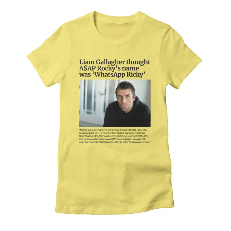 Liam Gallagher Women's T-Shirt by tulleceria