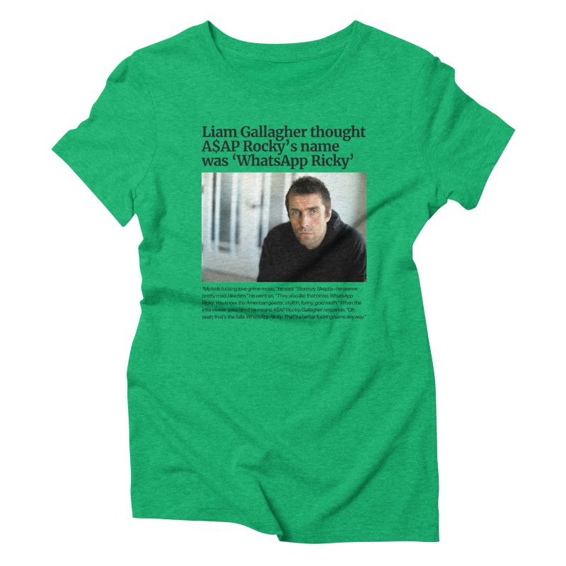 Liam Gallagher Women's Triblend T-Shirt by tulleceria
