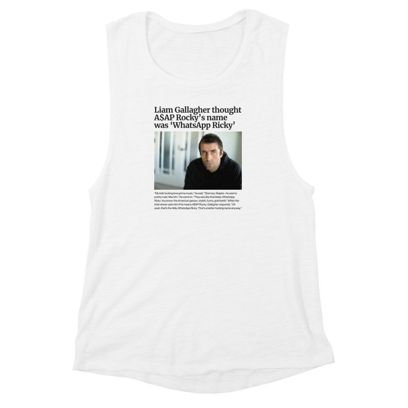 Liam Gallagher Women's Muscle Tank by tulleceria
