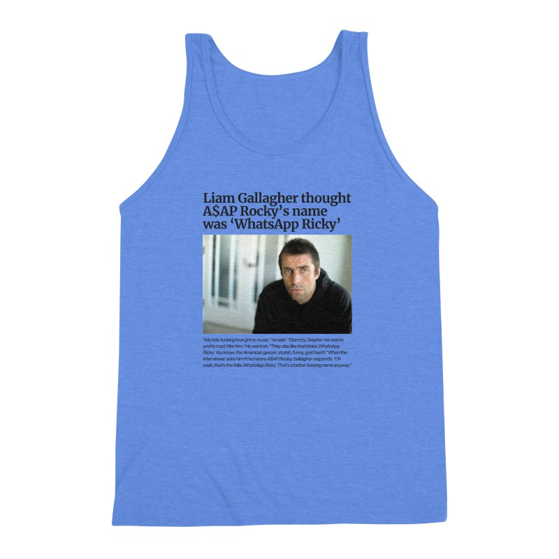 Liam Gallagher Men's Triblend Tank by tulleceria