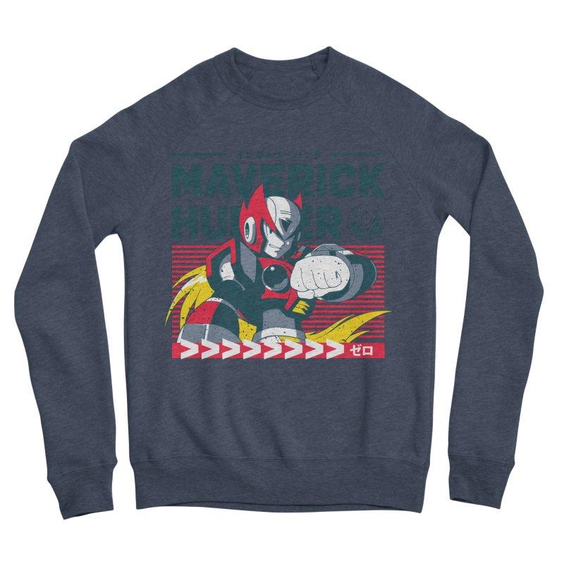 Mega Man X Zero Men's Sponge Fleece Sweatshirt by tulleceria