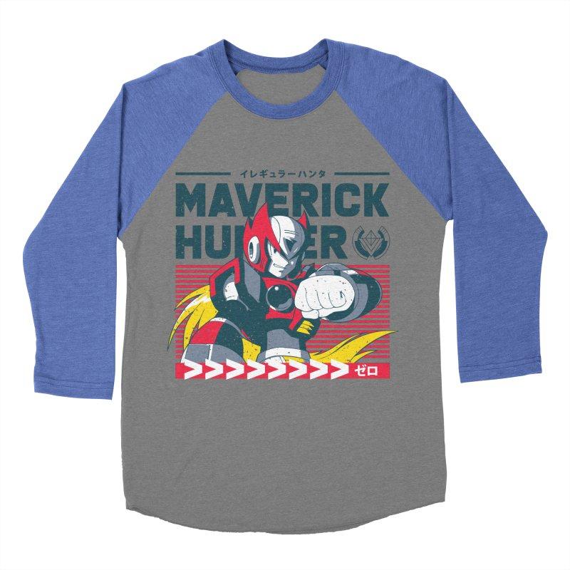 Mega Man X Zero Men's Baseball Triblend Longsleeve T-Shirt by tulleceria