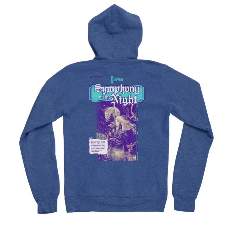 Castlevania: Symphony of the Night Men's Sponge Fleece Zip-Up Hoody by tulleceria
