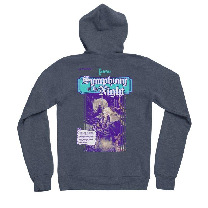 Castlevania: Symphony of the Night Women's Sponge Fleece Zip-Up Hoody by tulleceria